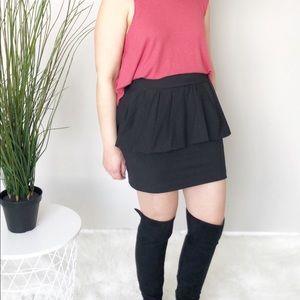 Zara Woman Black Ruffle Mini Skirt size Medium